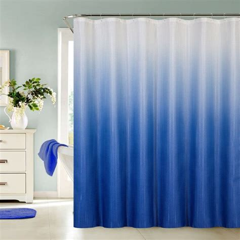 Ombre Shower Curtain - 13 waffle fabric ombre shower curtain made with 100