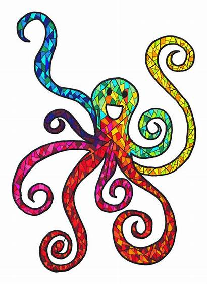 Octopus Animated Clipart Gay Gifs Happy 2nd