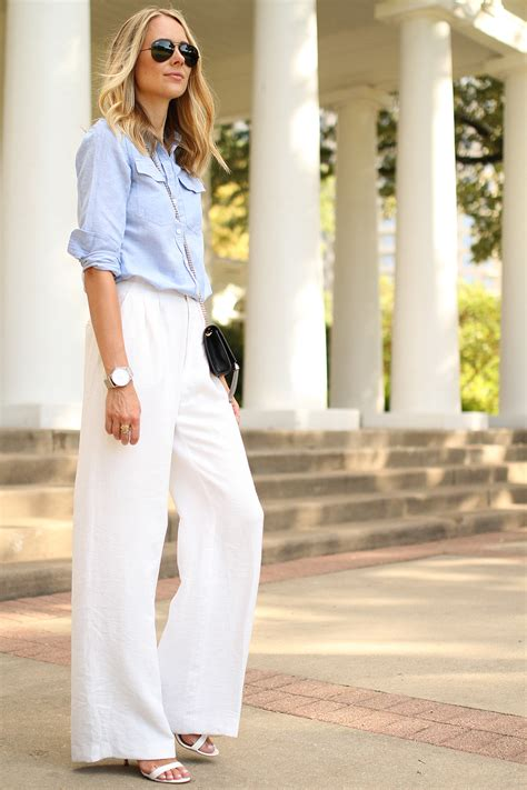 white wide leg pants fashion jackson