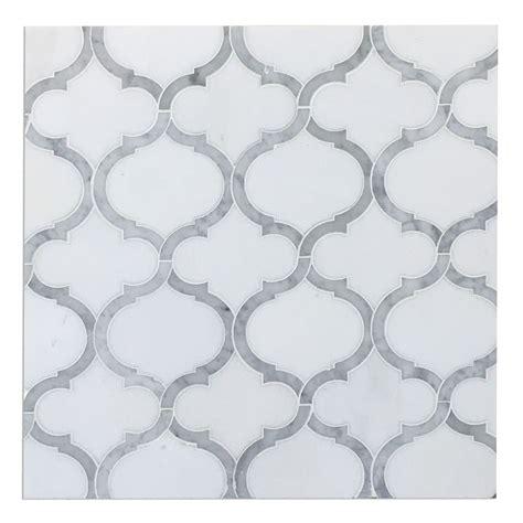 white marble mosaic tile white thassos carrara marble arabesque marrakesh waterjet luxury mosaic tile carrara