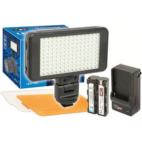 vidpro professional led light vidpro ultra slim led 150 on camera video lighting kit led 150