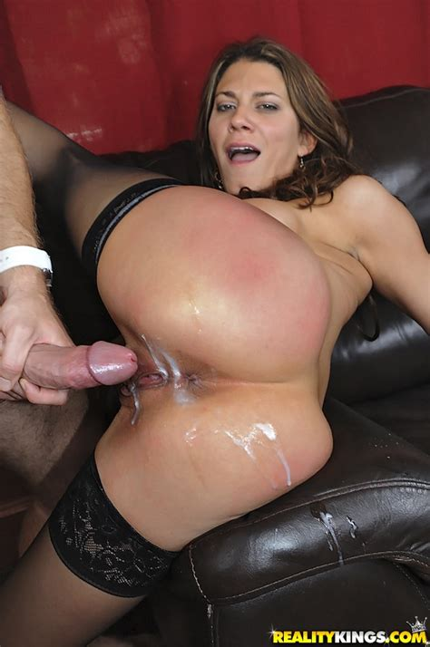 Lovely Woman Covered With Cum In The Ass Photos Leena Sky