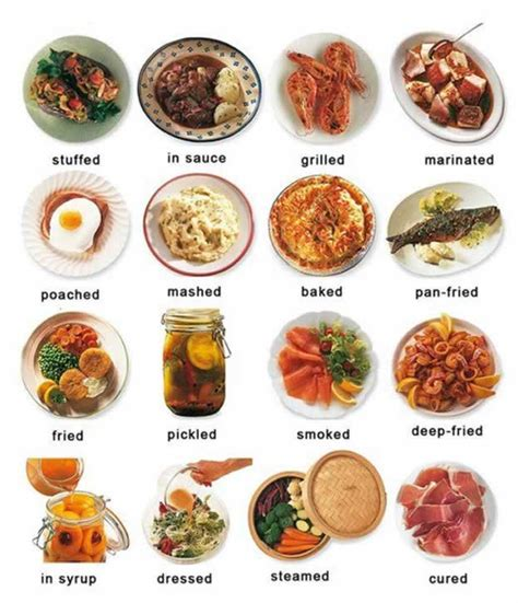 different types of cuisine cooked or prepared food learning learning basic