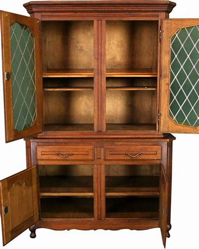 Hutch China Cabinet Country Glass Doors French