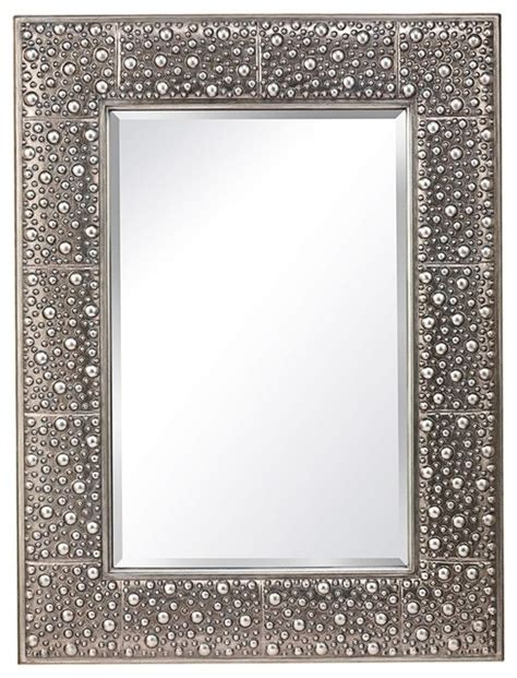 feiss danby 40 quot high rustic silver wall mirror