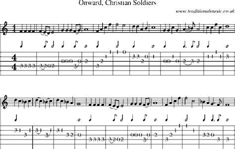 guitar tab  sheet   onward christian soldiers