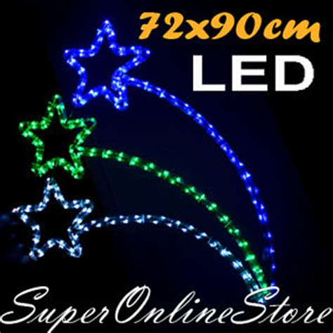 led xmas christmas rope light flashing shooting star ebay