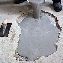 concrete saver pourable concrete patching compound