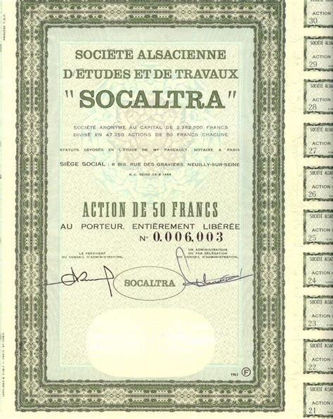 societe generale siege social société alsacienne d 39 etudes et de travaux socaltra 1963