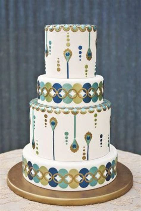 Wedding Cakes Art Deco Wedding Cake 2066772 Weddbook