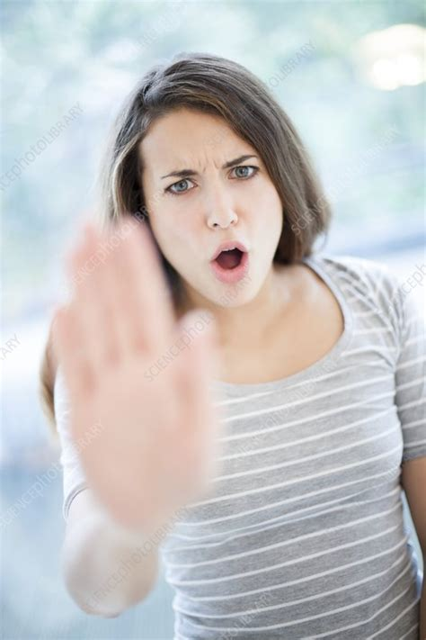 Angry woman - Stock Image - F006/2641 - Science Photo Library