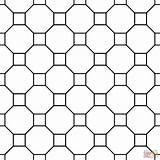 Tessellation Coloring Octagon Square Patterns Tessellations Pattern Printable Sheets Tesselations Supercoloring Easy Geometric Paper Template 3d Symmetrical Templates Worksheets Crafts sketch template