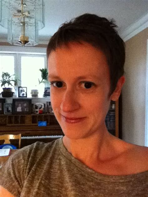 katydid cancer day   post chemo haircut