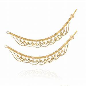 42 Gold Ear Chain Models, South Indian Gold Plated Jewelry ...