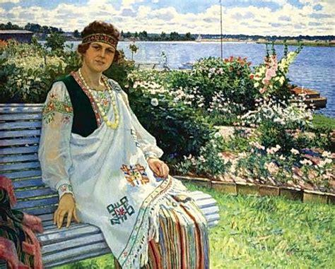 Spring. Portrait of Lady I.Baumane, 1924 - Nikolay ...