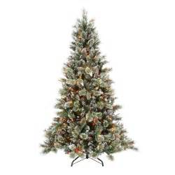 martha stewart 7 5 ft sparkling pine artificial christmas tree with 750 multi color lights gb1