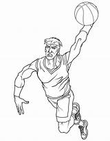 Basketball Coloring Pages Player Nba Players Drawing Cool Really Jordan Dunk Playing Getdrawings Popular Coloringhome Getcoloringpages sketch template