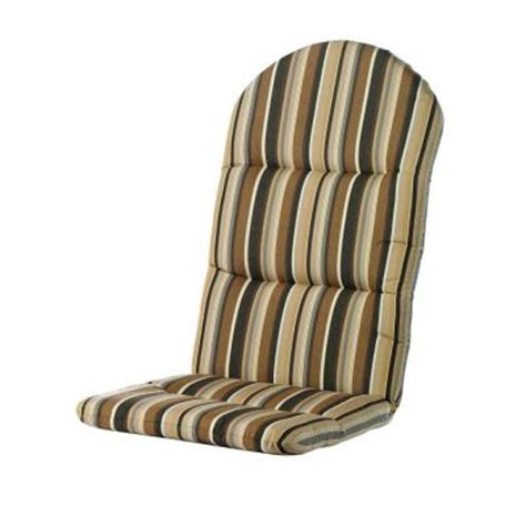 high back patio chair cushions home depot home decorators collection sunbrella espresso stripe