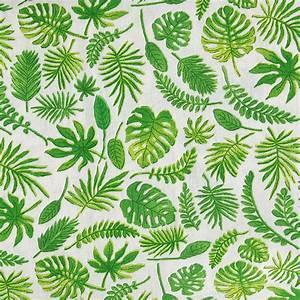 Tissu Imprimé Tropical : tissu cr tonne de coton imprim tropical feuilles de monstera et palmier x10cm perles co ~ Teatrodelosmanantiales.com Idées de Décoration
