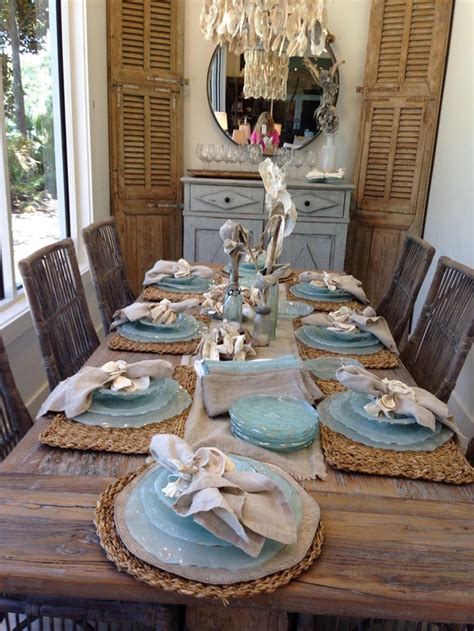 stunning coastal kitchen decorating table design