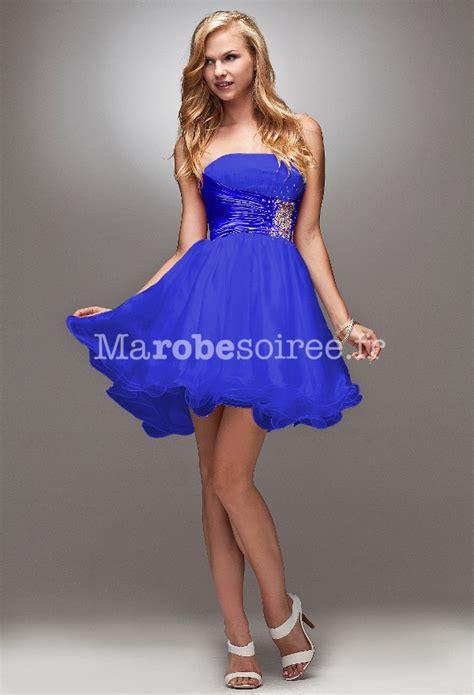 robe de mariã e bleu robes élégantes robe bleu electrique courte