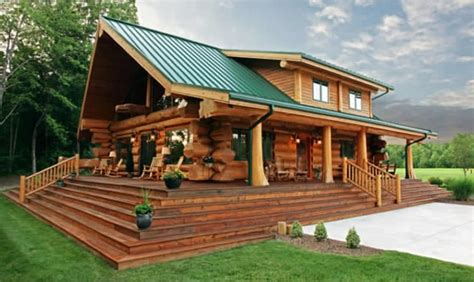 Beautiful Log Home With Alluring Interior  Log Homes