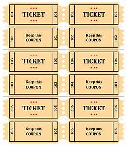 4 raffle ticket templates excel xlts for Free template for raffle tickets with numbers