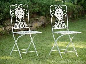 Bistrotisch Und Stühle : gartentisch und 4 st hle eisen bistrotisch antik stil gartenm bel creme weiss aubaho ~ Buech-reservation.com Haus und Dekorationen