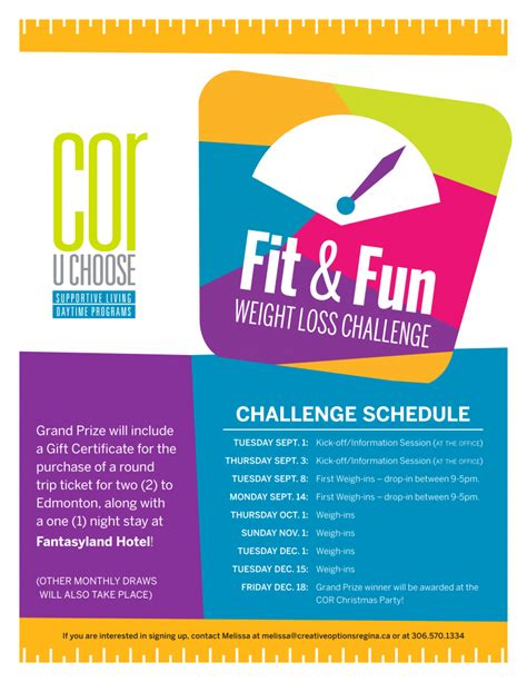Fit & Fun Weight Loss Challenge  Creative Options Regina. Family Medical History Template. Office Supplies Checklist Printable Template. Process Engineer Cover Letter Template. Resume Template Registered Nurse Template. Yard Sale Signs Ideas Template. Customer Information Sheet Template. System Specialist Job Description Template. Template For Balance Sheet Template