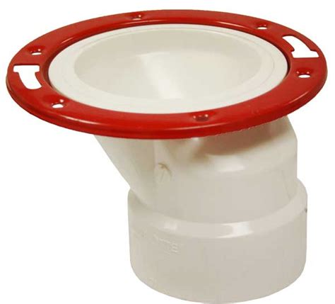 An Offset Toilet Flange  On The House