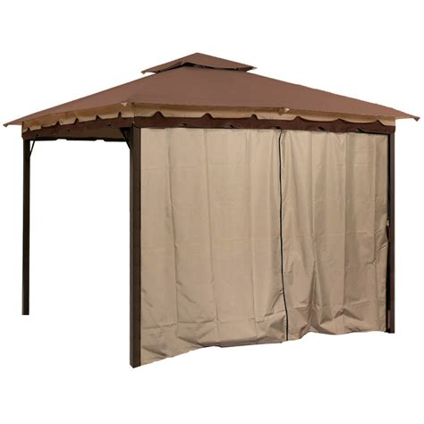 10 x 10 canopy with walls gazebo canopy tent privacy side wall panel fits 10 x 12