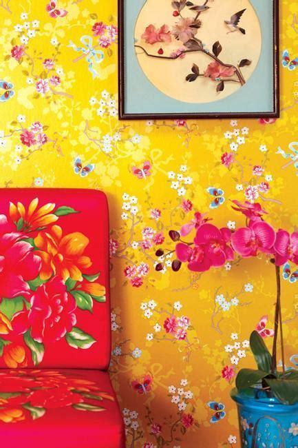 modern wallpaper  colorful floral designs
