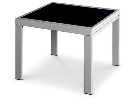 tavolo vetro nero allungabile vr90 tavolo allungabile in metallo con piano in vetro 90