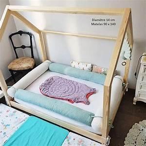 Lit Au Sol Pour Bébé : bed mattress to floor cabin bed tipi montessori cushions sausages boutique artisanale ~ Dallasstarsshop.com Idées de Décoration