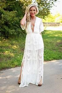 Robe Blanche Longue Boheme : robe chic belles robes ~ Preciouscoupons.com Idées de Décoration