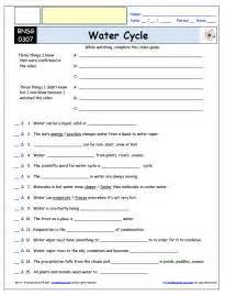 bill nye the science water cycle worksheet answers