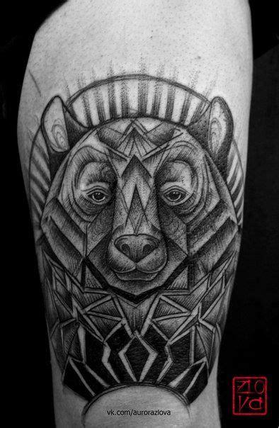 bear face tattoo sketch illustration blackwork geometry linework dotwork | Эскизы татуировок