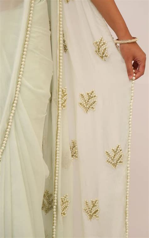 pearl work  saree simple craft ideas