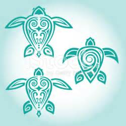 Simple Tribal Turtle Tattoo Designs