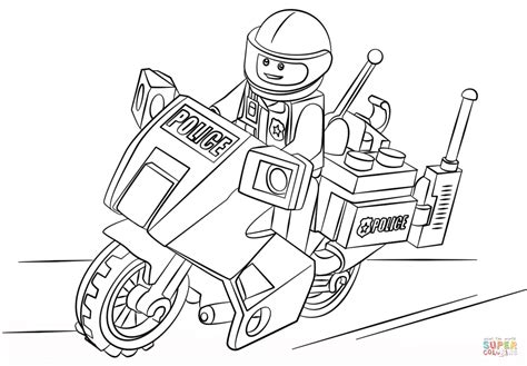 Colouring In Sheets Lego Man Coloring Police Boat Lego