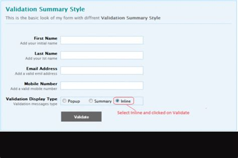 jquery validation styles codeproject