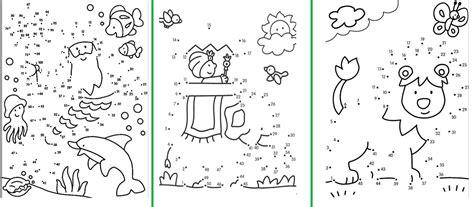 docenteca unir los puntos  al   formar dibujos