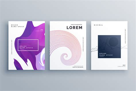Creative Templates by Creative Brochure Design Template In A4 Size Minimal Style