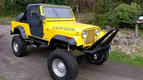 2017 jeep scrambler for sale 1982 jeep cj8 scrambler for sale in snoqualmie wa 24k
