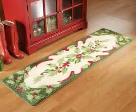 Walmart Christmas Bathroom Sets by Holiday Holly Floor Runner Area Rug Christmas Kitchen
