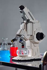Science Geeks  Functional Lego Microscope Inspired By Old X