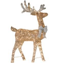shop holiday living lighted reindeer outdoor christmas decoration with white incandescent lights