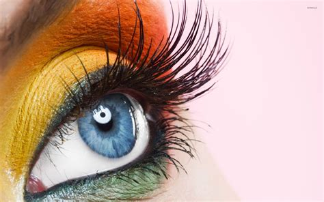 Orange Eye Wallpaper by Yellow Makeup Wallpapers Top Free Yellow Makeup