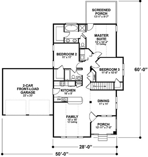 starter home plans cozy starter home plan 2057ga 1st floor master suite cad available country narrow lot