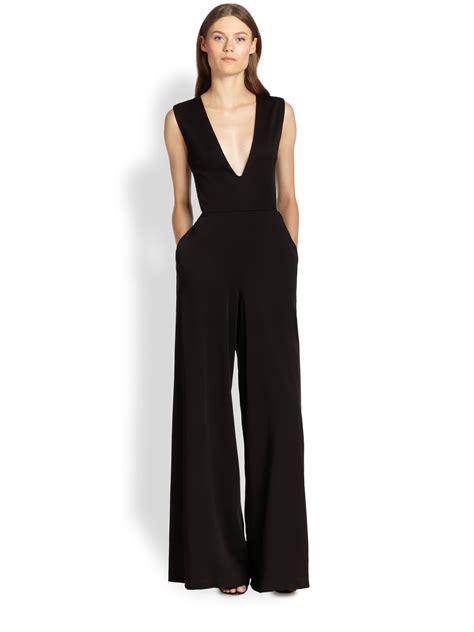 black wide leg jumpsuit londyn wide leg jumpsuit in black lyst